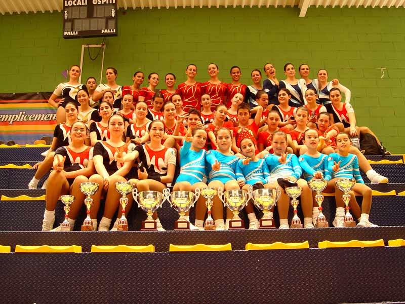 La squadra ASD Ginnastica Villa che ha preso parte alle Finali Nazionali FGI di Aerobica e step